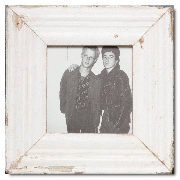 Square Reclaimed wood frame for photo size 14,8 x 14,8 cm