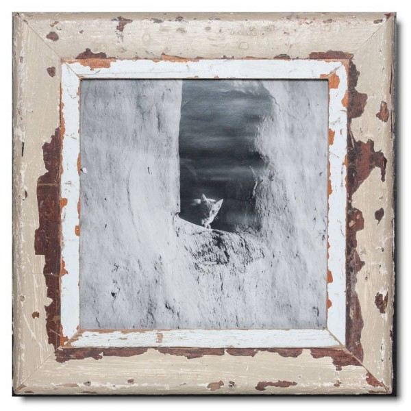 Square rustic timber frame for photo format A3 square