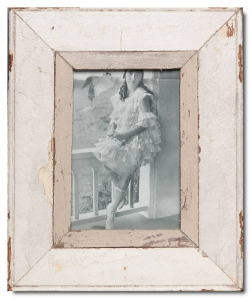 Rustic timber photo frame for photo format A5