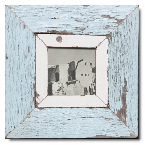 Square rustic timber picture frame for picture format 10,5 x 10,5 cm