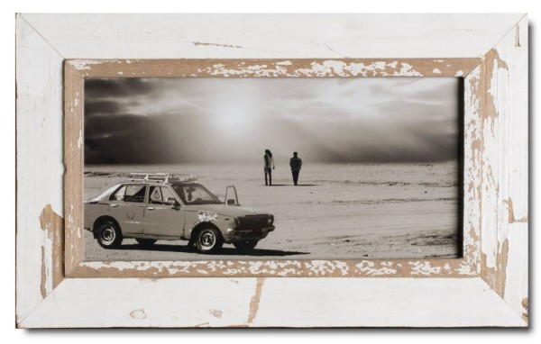 Panoramic rustic timber photo frame for picture format 42 x 21 cm