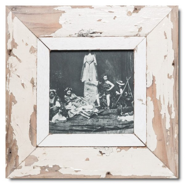 Square rustic timber picture frame for picture format A5 square