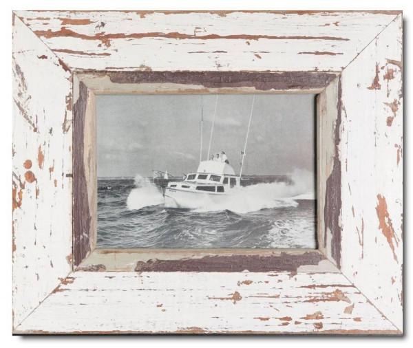Distressed wooden picture frame for photo size A5