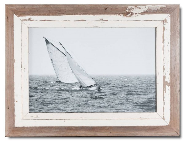 Distressed wooden picture frame for picture format 42 x 29,7 cm