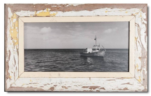 Panoramic reclaimed wood picture frame for photo size A3 panoramic