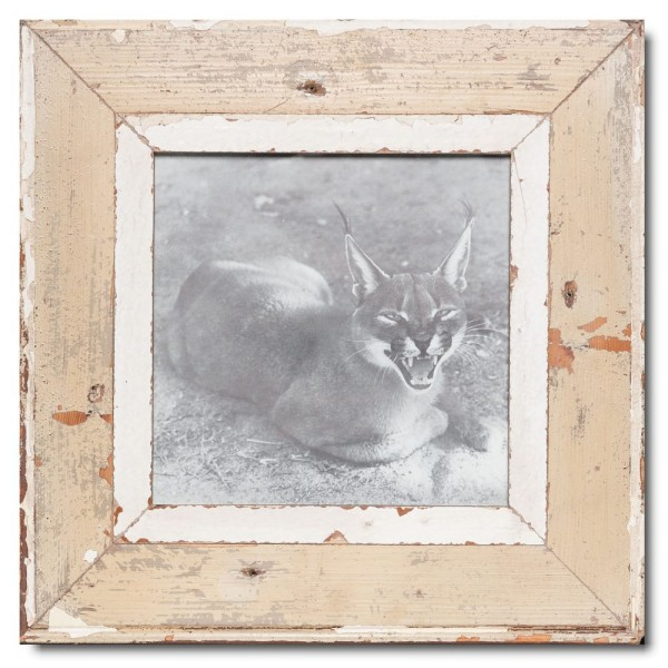 Square rustic timber photo frame for picture size 21 x 21 cm