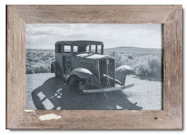 Basic rustic timber photo frame for photo format 25 x 38 cm