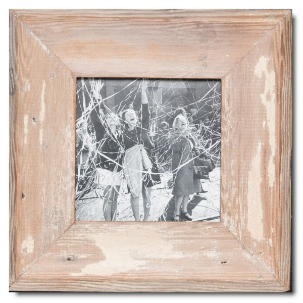Square rustic timber photo frame for photo size A5 square