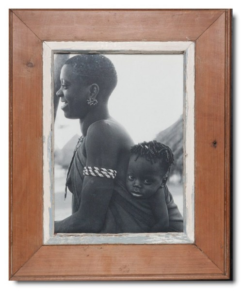 Rustic timber picture frame for picture format A4