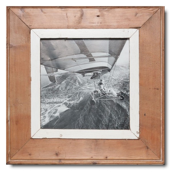 Square rustic timber frame for picture size A4 square
