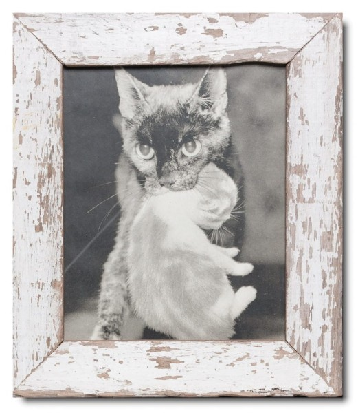 Basic distressed wooden frame square for picture format 20 x 25 cm
