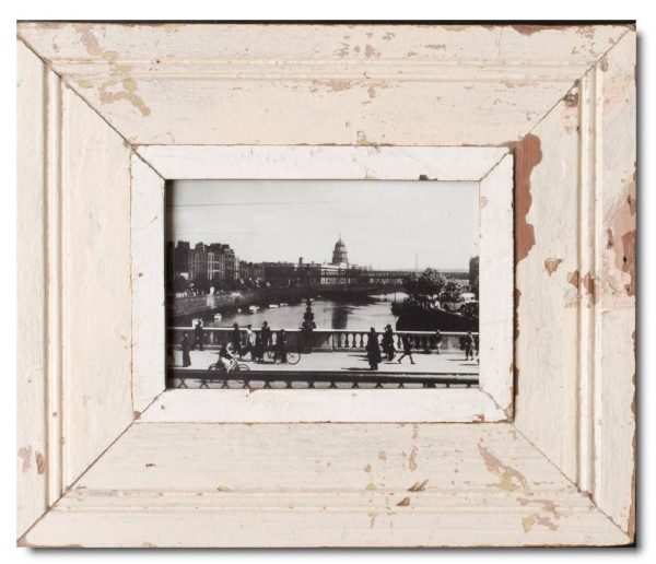 Wide rustic timber picture frame for photo size A5