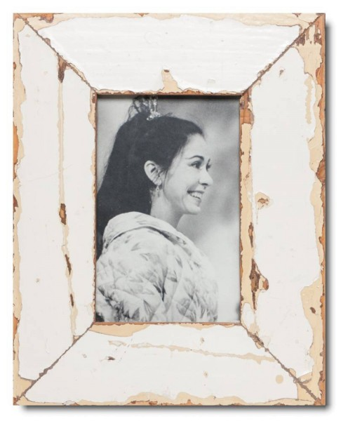 Basic reclaimed wood picture frame for picture size 10 x 15 cm