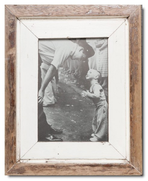 Rustic timber photo frame for picture size 14,8 x 21 cm