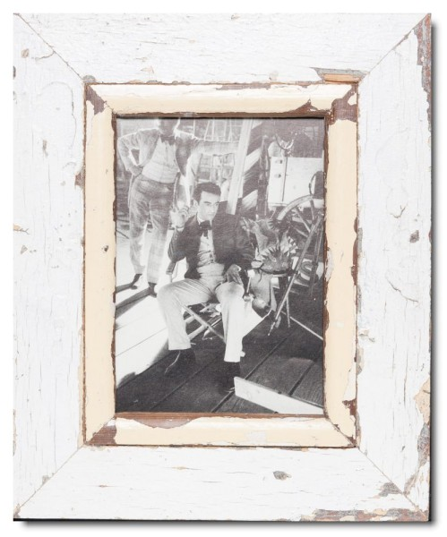 Distressed wooden frame for photo size 14,8 x 21 cm