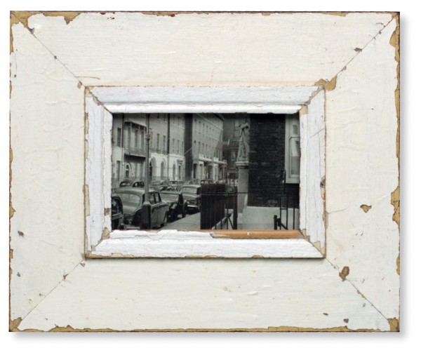 White Vintage Picture Frame - A6