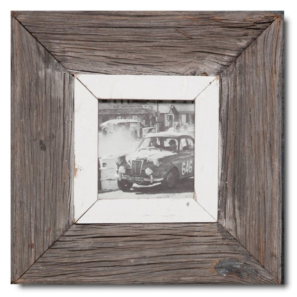 Square Reclaimed wood frame for photo size A6 square