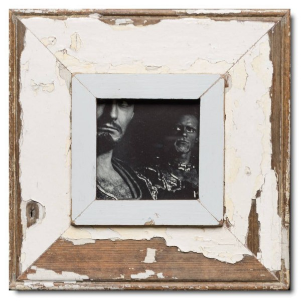Square reclaimed wood picture frame for picture size A6 square