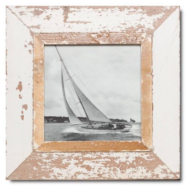 Square reclaimed wood picture frame for picture size 21 x 21 cm