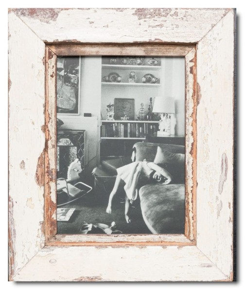 Basic rustic timber picture frame for photo format 15 x 20 cm