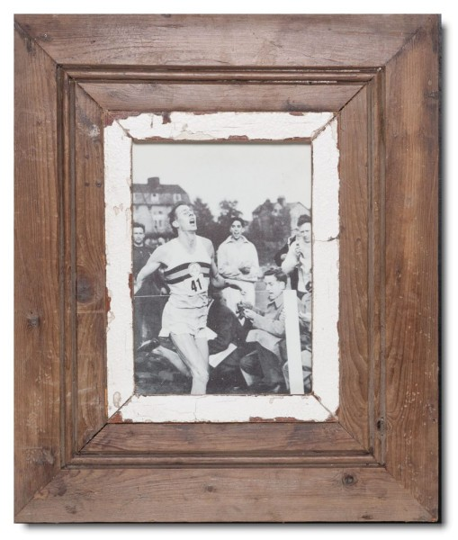 Wide rustic timber photo frame for photo size A5