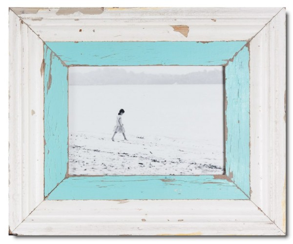 Wide reclaimed wood photo frame for photo format A4