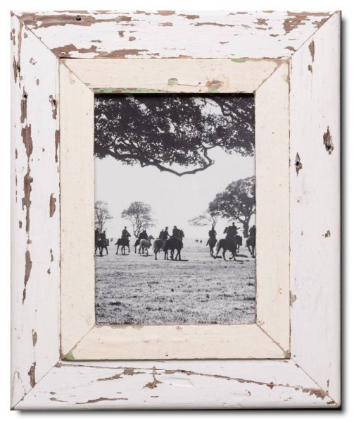 Wide distressed wooden frame square for picture size A4