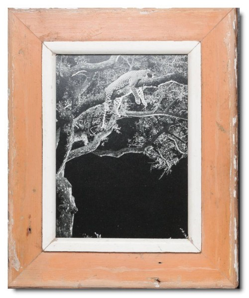 Rustic timber photo frame for photo size 29,7 x 21 cm