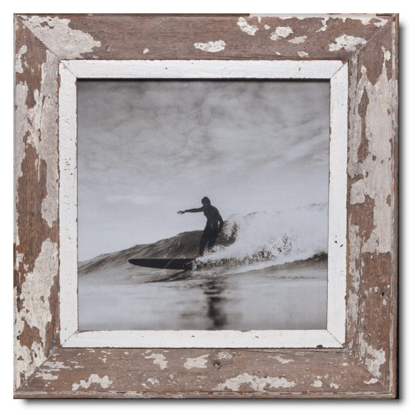 Square rustic timber frame for picture size A3 square