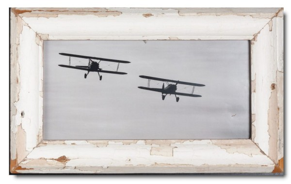 Panoramic Reclaimed wood frame for picture size A3 panoramic