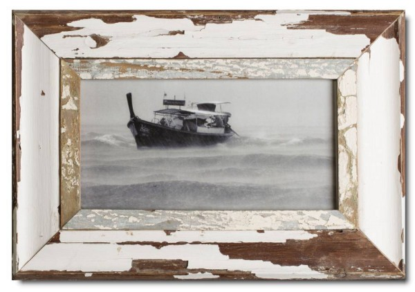 Panoramic reclaimed wood photo frame