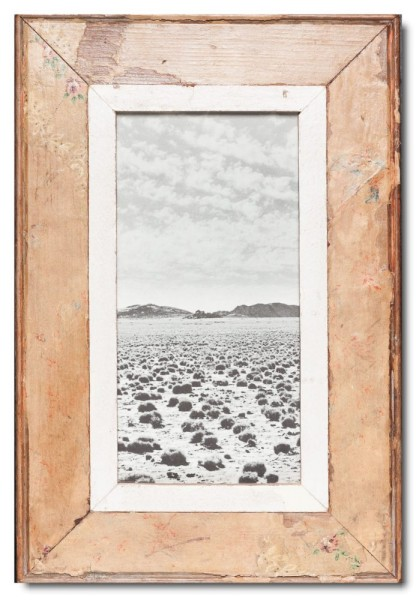 Panoramic rustic timber picture frame for photo size 29,7 x 14,8 cm