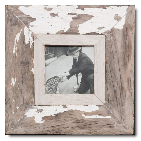 Square rustic timber frame for picture format A6 square