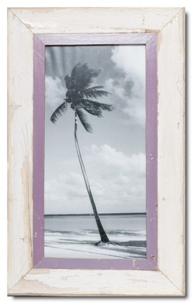 Panoramic distressed wooden frame square