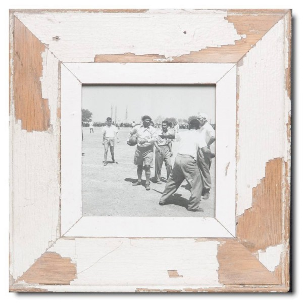 Square distressed wooden frame square for photo format A5 square