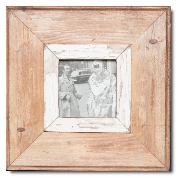 Square distressed wooden frame square for photo size A6 square