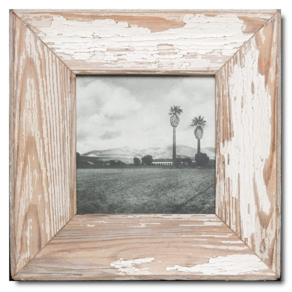 Square rustic timber frame for picture size A5 square