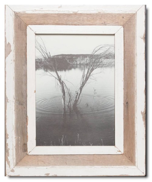 Distressed wooden picture frame for photo size A4