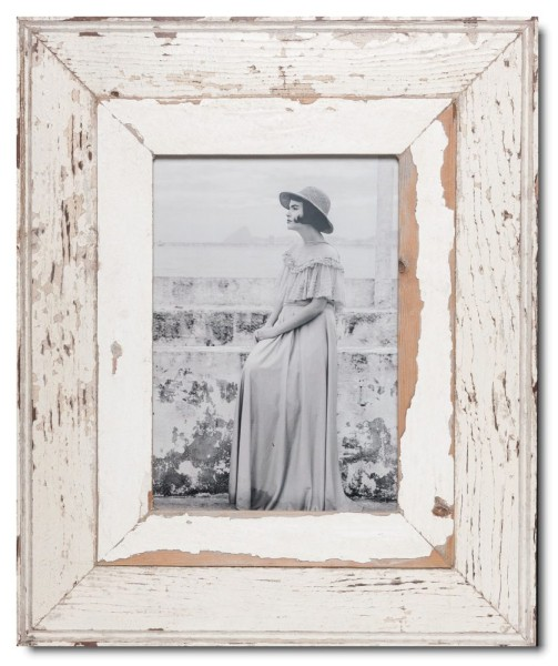Wide distressed wooden frame square for picture format 29,7 x 21 cm