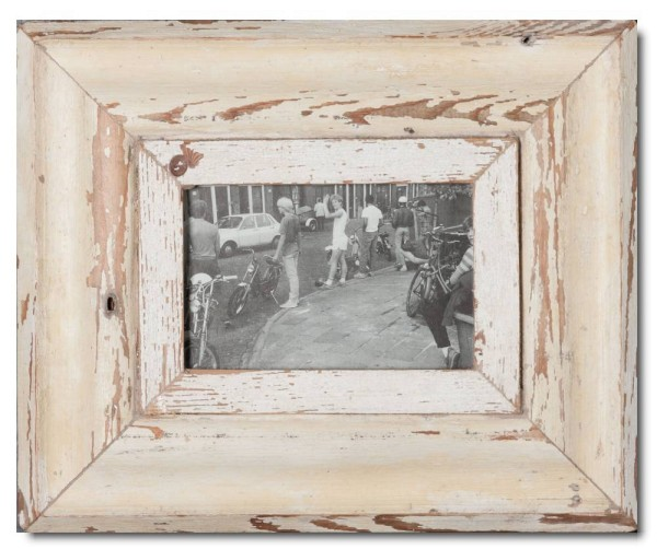 Rustic timber photo frame for picture size A6