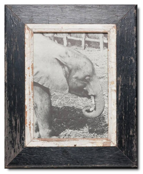 Rustic timber photo frame for picture format A4