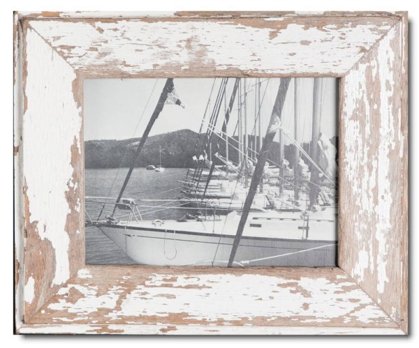 Basic distressed wooden frame square for picture size 15 x 20 cm