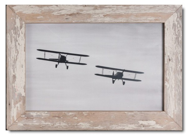 Basic distressed wooden frame square for picture format 25 x 38 cm