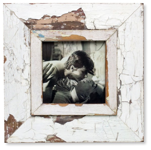White Vintage Picture Frame - A5 Square