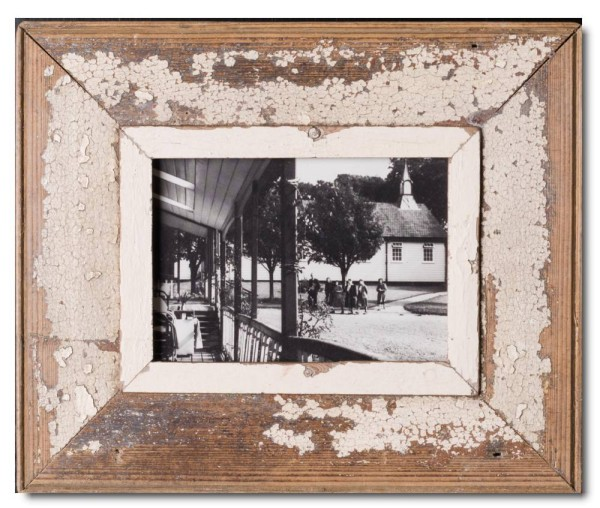 Wide rustic timber picture frame for picture format A5