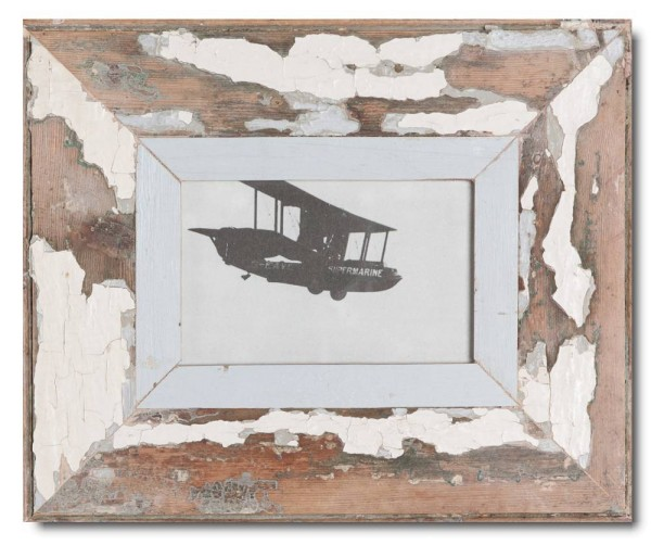 Reclaimed wood frame for photo size A6