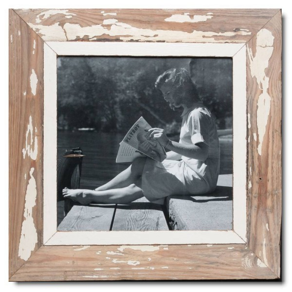 Square distressed wooden frame square for photo size A3 square