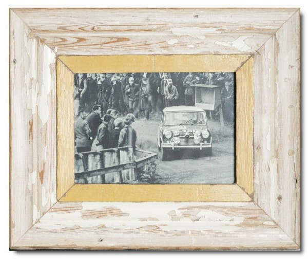 Reclaimed wood frame for picture size A5