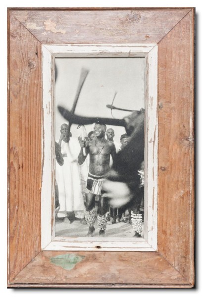 Panoramic distressed wooden frame square for photo size 29,7 x 14,8 cm