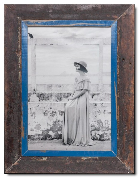 Rustic timber photo frame for picture format 42 x 29,7 cm